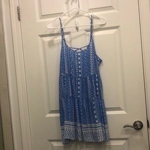 Patterned Blue and White Ocean Drive Dress